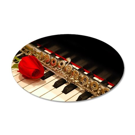 Flute 35x21 Oval Wall Decal