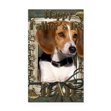 Stone_Paws_Beagle_Dad Rectangle Car Magnet