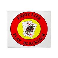blackjack2 Throw Blanket