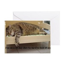 fatcat Greeting Card