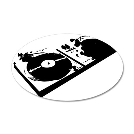 turntable 35x21 Oval Wall Decal