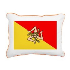 sicilian flag Rectangular Canvas Pillow