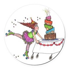 Birthday girl Round Car Magnet