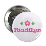 "Pink Daisy - ""Madilyn"" Button"