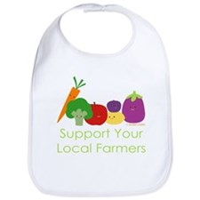 """Support Your Local Farmers"" Bib"