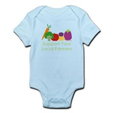 """""""Support Your Local Farmers"""" Infant Bodysuit"""