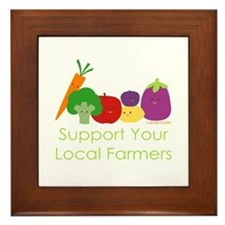 """Support Your Local Farmers"" Framed Tile"