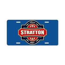 Stratton Old Label Aluminum License Plate