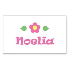 "Pink Daisy - ""Noelia"" Rectangle Decal"