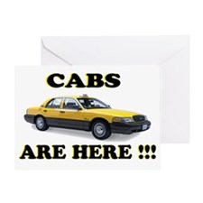 cabs are here-2 Greeting Card