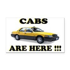 cabs are here-2 Rectangle Car Magnet