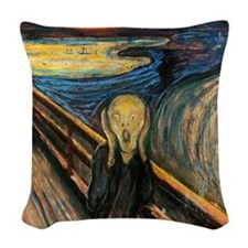 The Scream Woven Throw Pillow