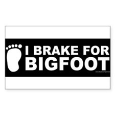 I Brake For Bigfoot (Black) Decal