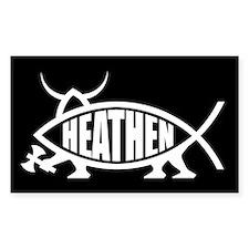 Heathen Fish Rectangle Decal