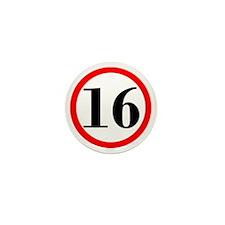 Stop 16 Mini Button