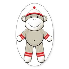 Red Sock Monkey Decal
