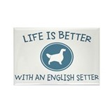 English Setter Rectangle Magnet (100 pack)