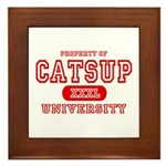 Catsup University T-Shirts Framed Tile