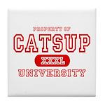 Catsup University T-Shirts Tile Coaster