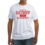 Catsup University T-Shirts Fitted T-Shirt