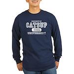 Catsup University T-Shirts Long Sleeve Dark T-Shir
