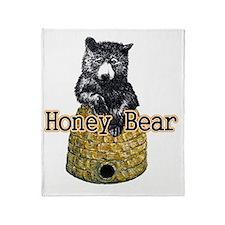 honey bear Throw Blanket