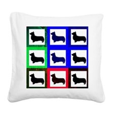 Pembroke Welsh Corgi Pattern Square Canvas Pillow