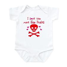 Love More than Pirates Infant Bodysuit