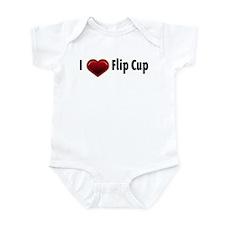 I heart Flip Cup Onesie