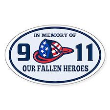 9-11 fireman firefighter hat americ Decal
