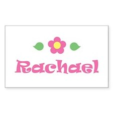 "Pink Daisy - ""Rachael"" Rectangle Decal"
