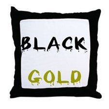 ibleedblackgoldbl Throw Pillow