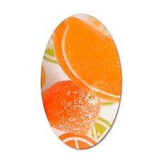 5x7 orange 35x21 Oval Wall Decal
