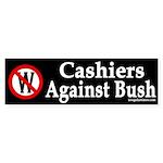 Cashiers Against Bush (bumper sticker)