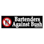 Bartenders Against Bush Sticker