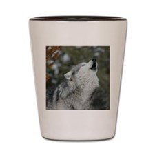 x10 Christmas Wolf Shot Glass