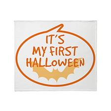 Babys First Halloween Throw Blanket