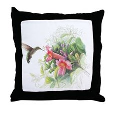 Hummingbird_Card Throw Pillow