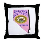 Nevada Brothel Security Throw Pillow