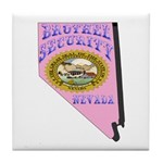Nevada Brothel Security Tile Coaster