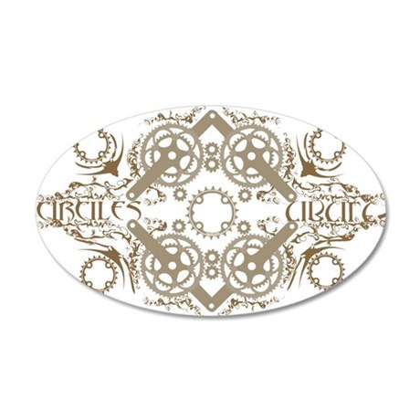 circles_brown 35x21 Oval Wall Decal