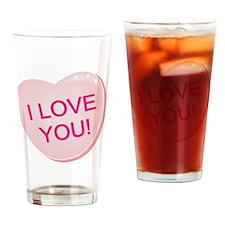 ILove You 1b Drinking Glass
