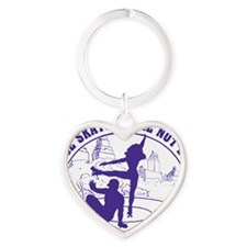 Mens_Circle_back_purple Heart Keychain
