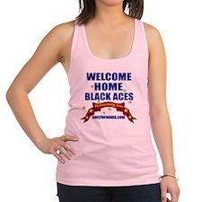 navy 4 moms Black Aces Racerback Tank Top