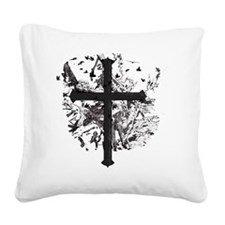 Cross Decay_Skulls Square Canvas Pillow