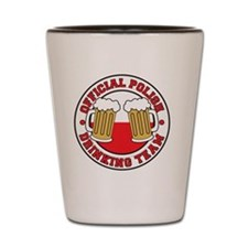 Official Polish Drinking Team Shot Glass