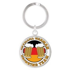 Official German Drinking Team Round Keychain