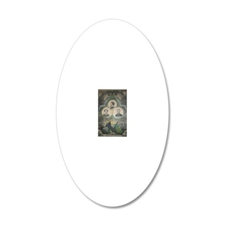 manmart2 20x12 Oval Wall Decal