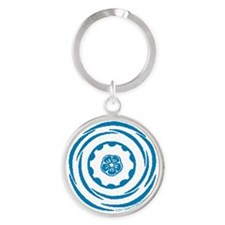 Worth Breath Teal 2 Round Keychain