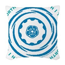 Worth Breath Teal 2 Woven Throw Pillow